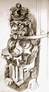 stone lion, Mackenzie King Estate, Qc