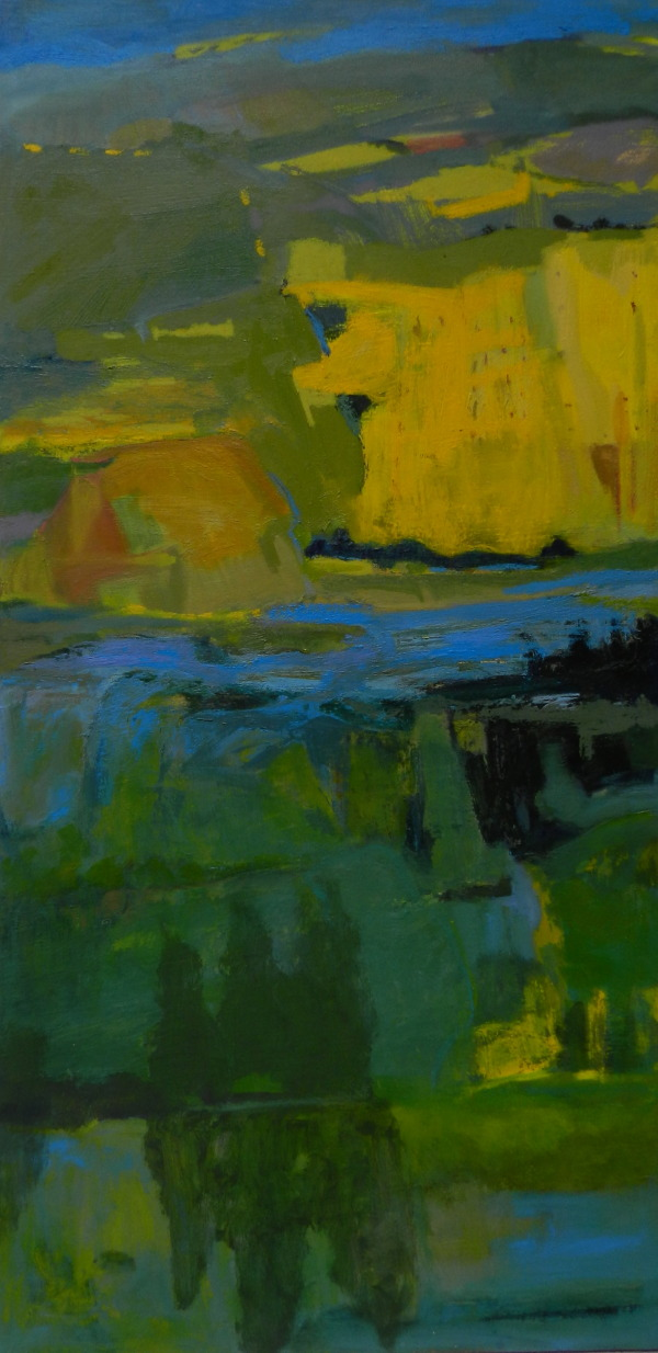 Mustard Fields, oil, 48x24