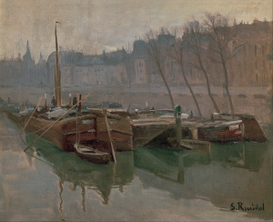 Santiago_Rusiñol_-_Boats_on_the_Seine_-_Google_Art_Project