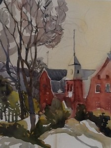Linda Denis, Baie- St- Paul, Qc, watecolour