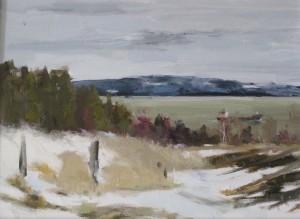 Allison Robichaud, Freighter, oil, 2015