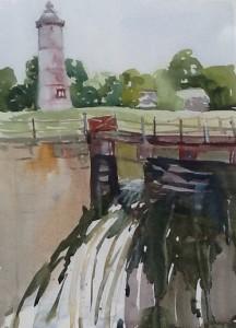Lighthouse at Pointe des Cascades,
