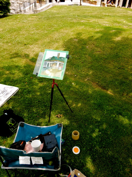 This year's equipment for Plein Air