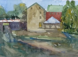 Old Mill, Coteau du Lac, Qc, watercolour