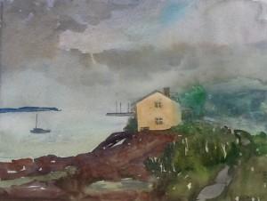 House on the edge, Kamouraska