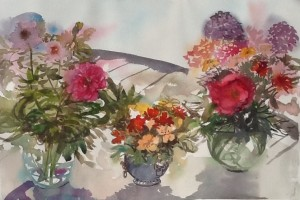 My Garden Flowers, watercolour