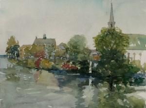 Beaconsfield Park, watercolour