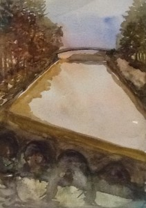 Coteau Landing , Soulanges Canal, watercolour, 2015