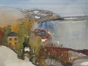 Shoreline, St. Joseph de la Rive, wc, 2014