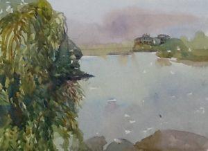 watercolour, Dollard des Ormeaux, Qc, 2016