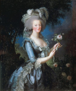 Portrait of Marie Antoinette with Rose, oil, 1783