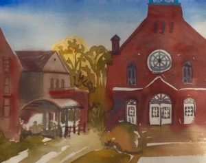 Sketch Hudson Village, watercolour&gouache, 2019